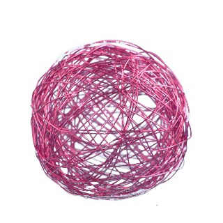 Boule en métal rose