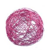 Boules métal 8 cm violet (9 pièces)