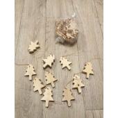 Sachet Sapins de Noël à suspendre (10 pièces)