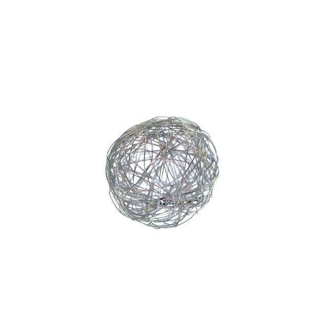 Boules métal multicolores 5cm (8 pièces)