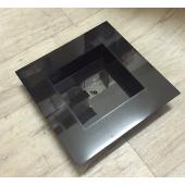 Vase carré Plexiglas noir