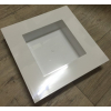 Vase carré Plexiglas blanc