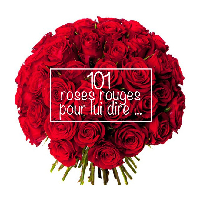 bouquet saint valentin 101 roses rouges france fleurs. Black Bedroom Furniture Sets. Home Design Ideas