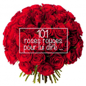 Le Saint Valentin (101 roses rouges)