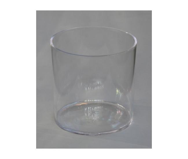 Vase Cylindrique Plastique Transparent