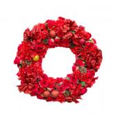 Couronne de fleurs rouge