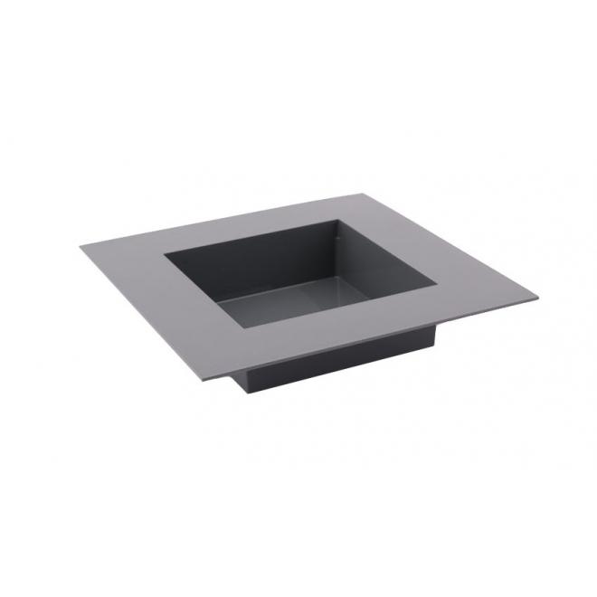 Vase carré Plexiglas gris