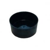 Coupe cylindrique noire (Diam. 15 cm)