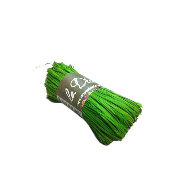 Rafia vert pomme (50 grammes)