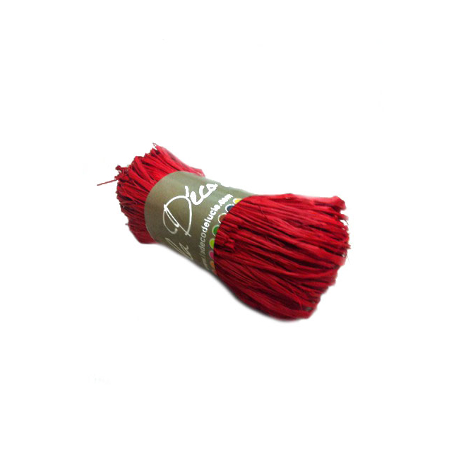 Rafia rouge (50 grammes)