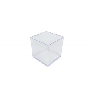 Vase cube Plexiglas Cristal 15 x 15 cm - Art floral - France Fleurs