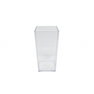 Vase plastique transparent (25x12x12cm)