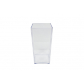 Vase cube Plexiglas haut 25 cm