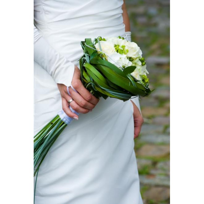 Bouquet de mariée Tressage Délicat - France Fleurs