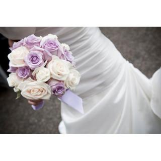 Bouquet de mariée Roses Tendres - France Fleurs