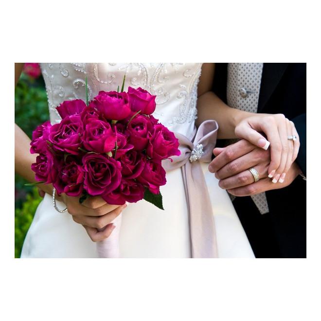 Bouquet de mariée Fuschia Exquis - France Fleurs