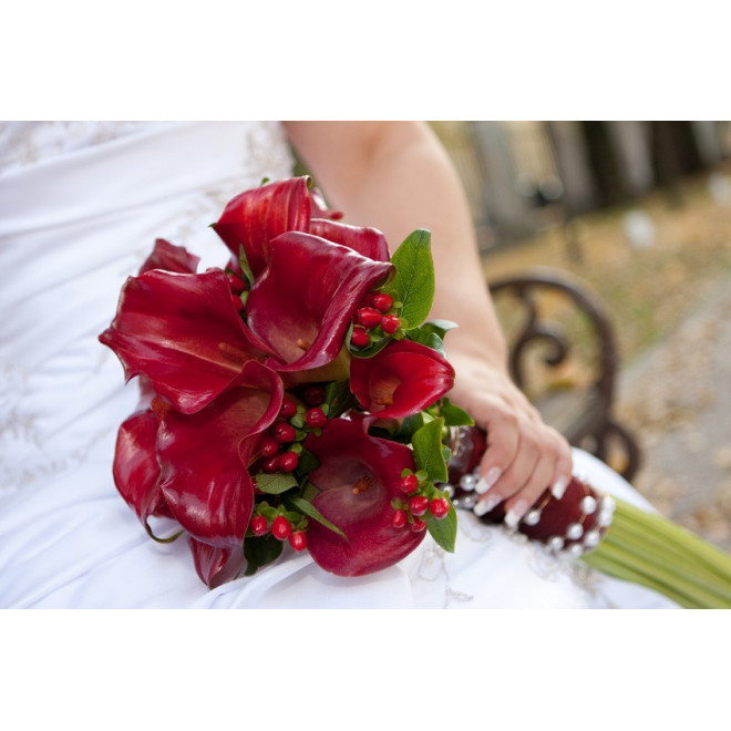 Bouquet de mariée Perles de calla - France Fleurs