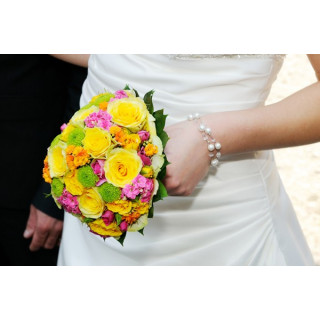 Bouquet de mariée Sublime Vitamine - France Fleurs
