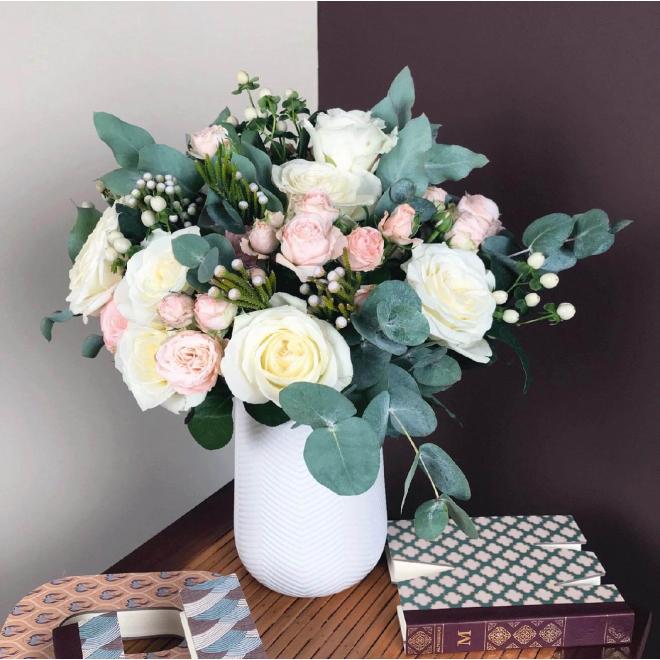 Le hyde park une vague de douceur dans un bouquet de saison for Bouquet de fleurs pour une naissance