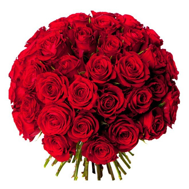 Bouquet de roses rouges sur mesure