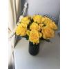 Rose Jaune en vase