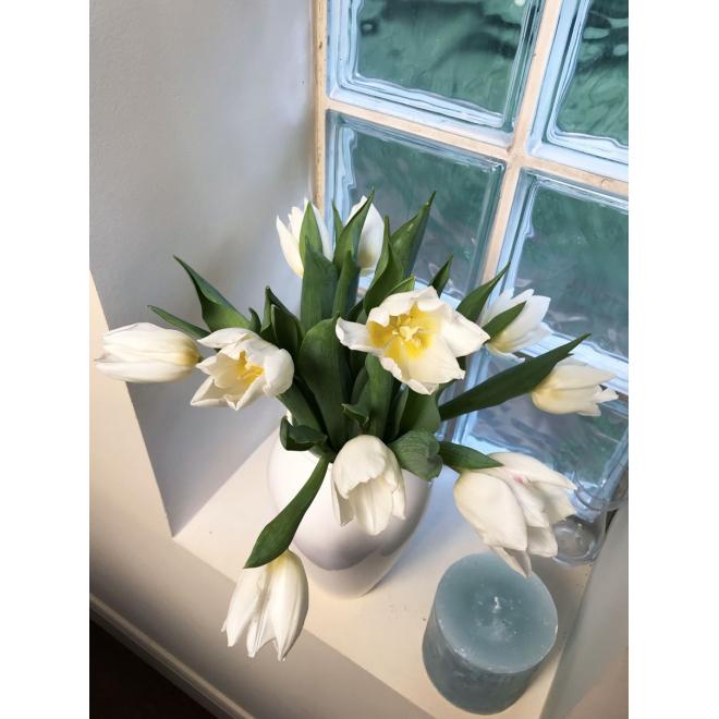 Bouquet tulipe blanche - pivoine etc