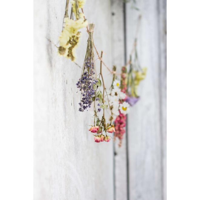 Guirlande de fleurs séchées
