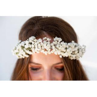 Couronne cheveux gypsophile - France Fleurs