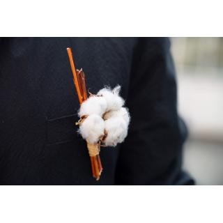 Boutonnière de coton bohème