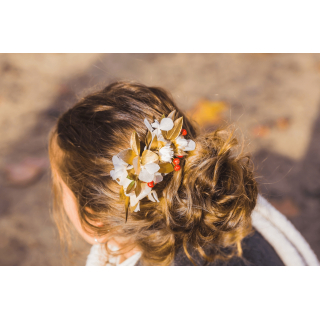 Peigne fleuri Clara