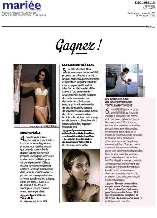 mariée magazine décembre 2013 février 2014
