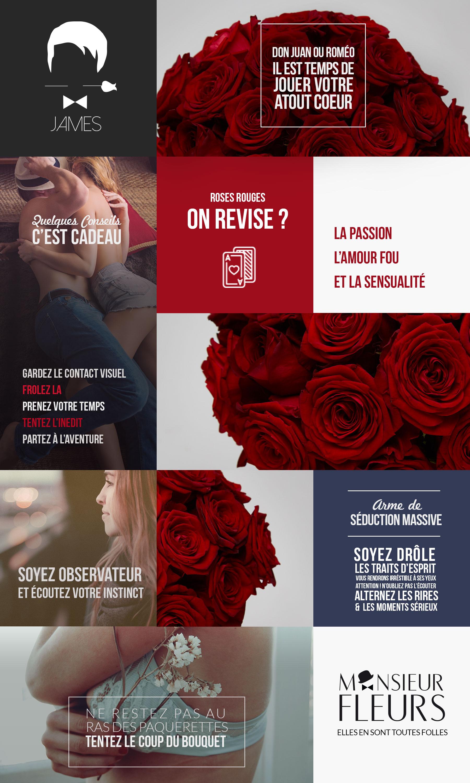 Bouquet séduction par Monsieur Fleurs