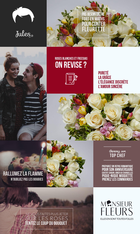 Bouquet anniversaire par Monsieur Fleurs